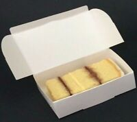 50 Single Size slice white CAKE Party Wedding favour boxes BARGAIN £5.00