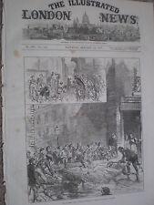 Fiume Tamigi Tide ALLUVIONE A PRINCE'S SQUARE Lambeth London 1877 stampa ref W3