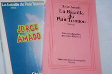 LA BATAILLE DU PETIT TRIANON JORGE AMADO SERVICE DE PRESSE E.O 1980 BRESIL