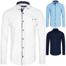 Camisas y polos de hombre de manga larga multicolor 100% algodón