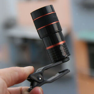 Clip-on Phone Camera Lens Wide Angle 8X18 Zoom Telephoto Cellphone Accessory