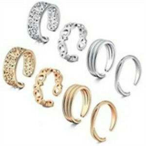 8Pcs/Set Jewelry Silver/Gold/Rose Gold Toe Rings Women Rings Gifts S12