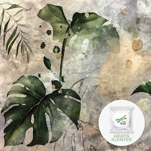 Fototapete Blätter MODERN Vlies Tapete Botanic Dschungel Pflanzen Schlafzimmer 6
