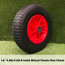 "16"" Solid Tyre Wheel Wheelbarrow 4.80/4.00-8 19mm BORE Cement Mixers Wheel"