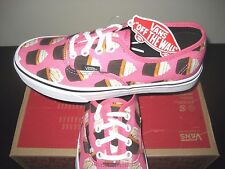 Vans Authentic Womens Late Night Hot Pink Cupcakes Canvas boat shoes size 7 NWT
