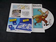 PUBLICITE MONNAIES BELGES TINTIN D'OR ET D'ARGENT 1993