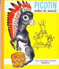 Picotin autour du monde * SIMON * Les albums roses * 1969 * ancien livre enfant