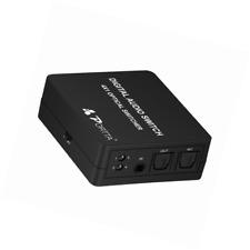 Portta 4 Port 4x1 SPDIF/Toslink Digital Optical Audio Switch/Switcher with IR Re