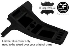 BLACK REAL LEATHER CENTRE CONSOLE  COVER FITS PORSCHE 928 1990-1995 STYLE 3