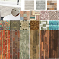 3D Wall Tile Stickers Waterproof Self-adhesive Bathroom Floor Decals Home Decor