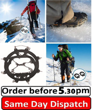 Ice Snow Shoes Spike Grip Boots Chain Crampons Grippers Anti Slip Ice Cleats