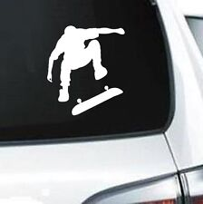 B203 SKATEBOARD RETRO STREET WHEELS  WHITE VINYL DECAL CAR  TRUCK WALL LAPTOP