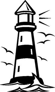 Wandtattoo Wandaufkleber Leuchtturm Meer Wellen Küste