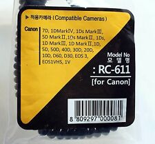 SMDV Flash RC-611 Canon EOS 7D 5D 1D Remote Terminal to Miniphone 3.5mm cable