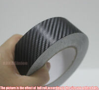 "Multi-function - 1.2"" Wide Black 3D Carbon Fiber Vinyl Tape Wrap Sticker - CF"