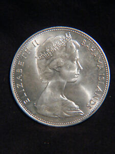Bahamas 1966 $5 STERLING SILVER Coin 925/1000 Beautiful & Big Stack Or Collect B