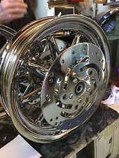 Harley Touring CHROME 9 Spoke One Wheel FRONT OR REAR Package Deal 00 to 08