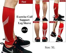 Calf Compression Sleeve Support Leg Shin Splints Exercise Sports Running Red