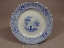 "Antique Staffordshire blue Transferware CEM pattern plate 19c 8.75"""