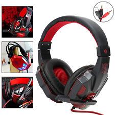 3.5mm Gaming Headset Stereo Headset MIC LED Headphone Fr PC New