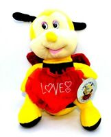 Bumble Bee I Love You Valentines Plush Super Soft Plush 12""
