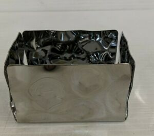 ALESSI for Delta Airlines Rectangular Sugar Caddy. New. Stainless Steel Chrome.