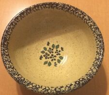 Three Rivers Pottery Bowl with Leaves/Flowers Design