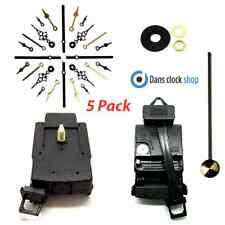 5 Pack Quartz Complete Pendulum Clock Drive Unit Movement Mechanism Metal Hands