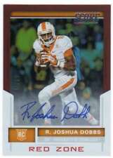 2017 Score Football Rookie Signatures Red Zone RC AUTO /20 #436 R. Joshua Dobbs