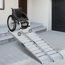 Homcom 6ft Aluminum Folding Wheelchair Ramp Threshold Scooter Pet Car Mobility