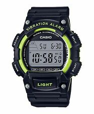 W-736H-3A Green Casio Men's Watches Resin Band Sport Brand-New 10-YEAR BATTERY