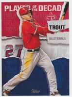 2020 Topps Player of the Decade Mike Trout #MT-15 Los Angeles Angels