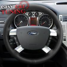Fits Ford Kuga MK1 2007-2012 black real genuine leather steering wheel cover DIY