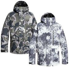 Men's QUIKSILVER Mission Print Insulated Snow Jacket Snowboard Ski Coat NWT