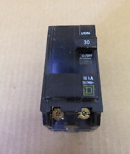 SQUARE D QOB QOB230 2 POLE 120/240V 30 AMP CIRCUIT BREAKER YELLOW BOLT ON FLAW