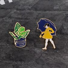2 Piece/Set Cute Lovely Badges Jacket Collar Pin Fashion Jewelry Enamel Brooch