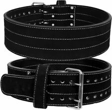 Leather Weight Lifting Belt Powerlifting Bodybuilding Fitness Gym & Training
