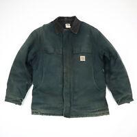 Sun Faded Distressed Carhartt C03 Heavyweight Jacket Grunge Workwear Mens 42 Reg