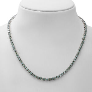 """925 Sterling Silver Moissanite Necklace Platinum Over Jewelry Size 18"""" Ct 24.5"""