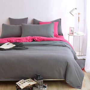 2021 HOME TOP New Bedding Set Simple Color King Size Queen Full Double