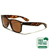 Classic Retro Sunglasses - Tortoise Shell Frame / Brown Lens - Mens / Womens