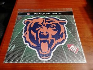 """Large 10"""" Chicago Bears CAR  PERFORATED WINDOW FILM DECAL NFL FOOTBALL"""