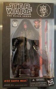 Star Wars BLACK SERIES #02 Darth Maul 6 in Original Black Box