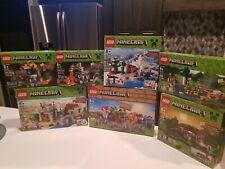 L@@K LEGO MINECRAFT lot 7 SETS! 21116,21115,21121,21119,21113,21114,21120  L@@K!