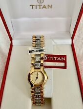 TITAN ladies quarts watch two tone brand new with box papers