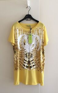 VERSACE JEANS GORGEOUS PRINT BRAND NEW T-SHIRT SIZEL(14)MADE IN TURKEY POST/FREE