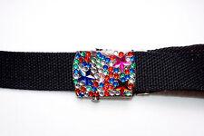 Las correas Niño/cinturón De Lona Con Estrás Multicolor Cinturones Hebilla estrellas + - 5