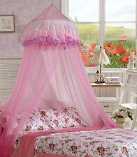 Ciel de lit moustiquaire d'enfant Dôme Dentelle Protection insectes rosé NEUF