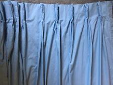 JC PENNEYS SOLID BLUE PINCH PLEAT CURTAIN DRAPE W 48 X L 81 COTTON BLEND USA