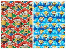 DESPICABLE ME MINIONS GIFT WRAP WRAPPING PAPER ROLL CHRISTMAS HOLIDAY 120 SQ. FT